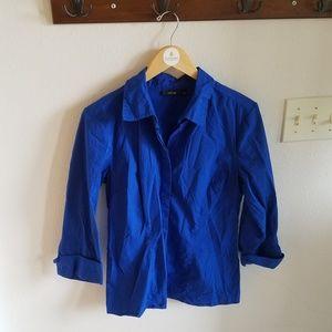 Apt 9 Blue Button Up Shirt